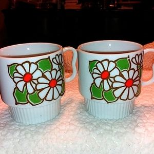 Vintage stackable 1960s fine china coffee cup
